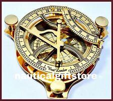 Nautical Brass West London Sundial Compass Marine Working Compass