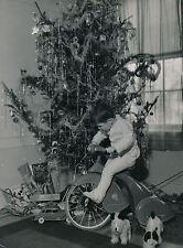 Tricycle c. 1940 - Enfant Noël Auto Jouet - Div 6798