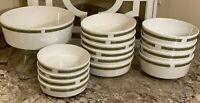 Lot-Centura by Corning Lynwood Green Set of 15 Variety Bowls - See Listing Size