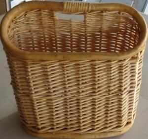 Vintage Woven Bamboo Magazine Basket - VGC - STYLISH USEFUL ITEM - Space Saver