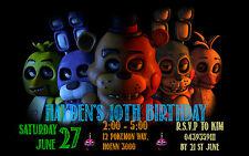 FNAF Five Nights at Freddy's Personalised Photo Birthday Invitations