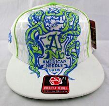 AMERICAN NEEDLE Embroidered SNAKE Design Carpe Diem FLAT BRIM Hat/Cap 7-3/8 NEW