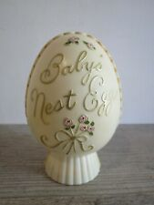 Vintage Plakie Plastic Baby'S Nest Egg Coin Bank Collectible Mid Century