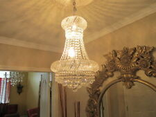 Crystal Chandelier French Empire Chandelier K9 LED light H24 W16 24x16 CLEARANCE