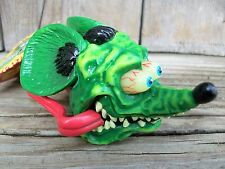 NOS 2003 Ed Big Daddy Roth Rat Fink Flames Antenna Topper Auto Car Truck NWT