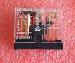 2pcs New 12V G2R-1 12VDC G2R-1-12VDC Omron Relay 5Pins