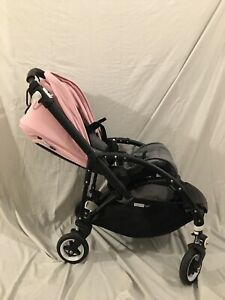 Bugaboo Bee 5 - Stroller with Hooded Baby Seat and Stroller Base - Pink & Grey