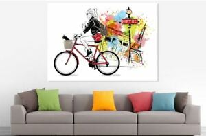 CITIES COLORFUL SCENERY  WALLART picture Canvas home wall choose your size