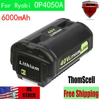New 6000mAh LITHIUM High Capacity Battery for Ryobi 40Volt OP4026A OP4050A Tools