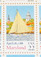 1988 sheet Maryland Statehood Sc# 2342
