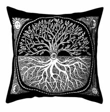 Cushion Pillow Cover Sun Moon Evil Eye All Seeing Eye Tree of Life Polyester