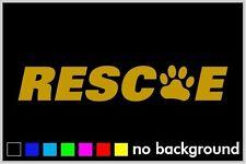 Rescue Paw Sticker Vinyl Decal Window Car Truck Cute Adopt Pet Dog Cat Animal