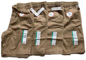 Wonder Nation Boys School Uniform Shorts Lot of four. Size L 10-12)