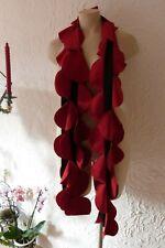 BORIS INDUSTRIES Schal Kreise Fleece NEU! rot schwarz 220 cm lang LAGENLOOK