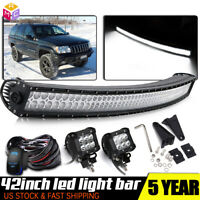 LED Light Bar 42''inch Curved Combo Beam Driving Lamp for 15-17 Jeep Renegade BU