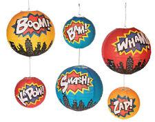 6 Superhero Paper Lantern Decorations for Kids Parties