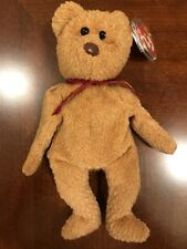 """Ty Collectible Beanie Babies """"Curly"""" Bear - lots of errors"""