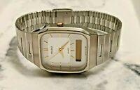 Vintage Pulsar V041-5070 Digital/Analog Dual Time Quartz Watch ( For Parts)