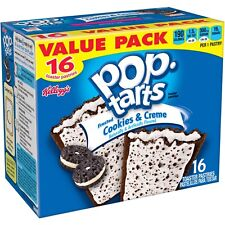 NEW POP TARTS FROSTED COOKIES & CREME 28.2 OZ 16 TOASTER PASTRIES VALUE PACK