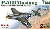 PLATZ WW2 US P-51D MUSTANG 2 machine set 1/144 PLASTIC MODEL FROM JAPAN