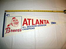 Atlanta Braves 1982 NL Western Division Champions Full Size Vintage Pennant RARE