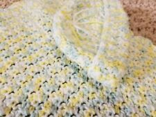 "Handmade 36"" x 30"" Crocheted Baby Blanket & Hat"