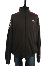 Adidas Vintage Shell Suit Tracksuit Top Jacket Grey, Red, White Chest 52''SW1377