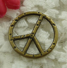 free ship 40 pieces bronze plated peace symbol charms 25mm #2021