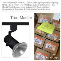 Juno T691BL BLACK  Mini Swivel Black Bullet Track Head for Trac Lighting Flood