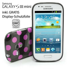 Samsung S3 Mini Galaxy i8190 Tapa Trasera Lámina Protectora Funda Negra /