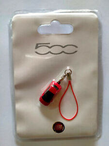 Fiat Nuova 500 Rossa  charms ciondolo per cellulare o portachiavi Nuovo 2,5 cm