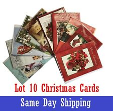 Lot 10 Cards New Merry Christmas Greeting Card With Envelope