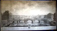 PARIS EINZUG von Graf Kaunitz - prachtvoller riesiger Kupferstich 1754 Original!