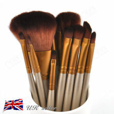 12pcs Kabuki Professional Make up Brush Brushes Set Makeup Foundation Blusher UK