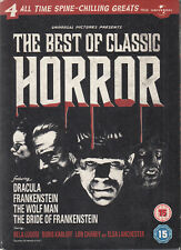 Best Of Classic Horror 4DVD Dracula Frankenstein Bride Of Wolf Man Cult Chilling