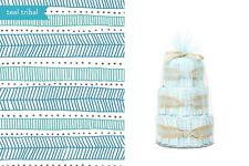 Honest® Small Diaper Cakes Collection in Teal Tribal Pattern
