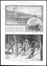 1885 Canada viste-Timber Rade Quebec/CACCIATORI INDIANI DEL NORD (210)