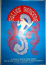Original Vintage Folies Bergere Poster, Ertes, Famous Places, Mounted on Linen