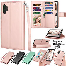 Samsung Galaxy Note 8 9 10 Plus 5G Wallet Case Flip Leather Magnetic Stand Cover