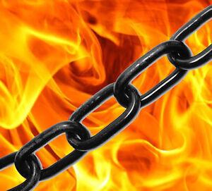 1 metre of 3mm x 16mm Strong Side Welded Black General Purpose Steel Chain