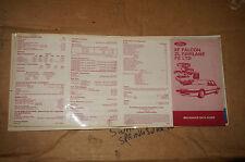 Ford Mechanics Pocket Data Guide Falcon XF ZL FAIRLANE FE LTD PINK
