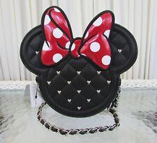 Disney Loungefly Minnie Mouse Bow Studded Crossbody Bag NWT