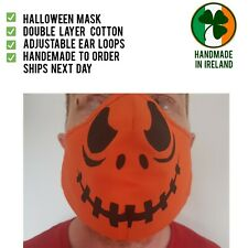 Face mask Reusable washable double layer cotton blend Halloween pumpkin jacko
