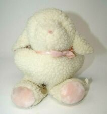 Eden Musical Lamb Wind up plush stuffed white pink