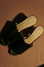 kate spade ladies black leather sandal - size 8.5M