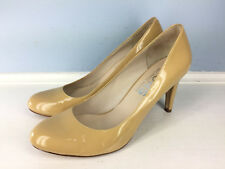 MK Michael Kors Tan Nude Patent Leather Pumps heels 8 Career Cocktail