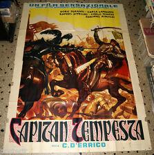 manifesto 4F originale CAPITAN TEMPESTA Carla Candiani Carlo Ninchi -da Salgari