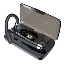New listing Bluetooth Earphone V5.0 Noise Cancelling Earpiece Handsfree Trucker Headset Mic