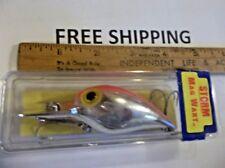 Hard to Find Pre Rapala Storm Magnum Mag Wiggle Wart,AV-108,Silver Red Back