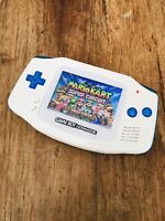 Nintendo Gameboy Advance GBA Clear Blue White Handheld Gaming Console BACKLIT IP